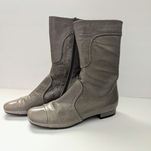 Chie Mihara Mid Calf Boots Taupe Size 36